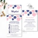 Esküvői meghívó, Esküvői lap, Esküvő Képeslap, rózsa lap,  rózsaszín meghívó, kék, lampion, egyedi, Esküvő, Naptár, képeslap, album, Meghívó, ültetőkártya, köszönőajándék, Képeslap, levélpapír, Minőségi Esküvői  Meghívó  * MEGHÍVÓ CSOMAG BORÍTÉKKAL: - 1.  -Meghívó lap, egy oldalas: kb.:  9.5cm..., Meska
