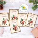 Karácsonyi Ajándékkísérő, vintage, mikulás, szarvas, Ünnepi kiskártya, ajándék, régi, posta, boldog karácsonyt, Dekoráció, Karácsonyi, adventi apróságok, Naptár, képeslap, album, Ünnepi dekoráció, Ajándékkísérő, képeslap, Ajándékkísérő, Vinateg stílusú Ajándékkísérő kártya csomagra  1 CSOMAGBAN: 5db kártya van  * Mérete: 7.5x5cm * szal..., Meska