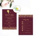 Esküvői meghívó, Esküvő,  egyedi Esküvői lap, Bordó, hőlégbalon, arany, csillámos, csillám, romantikus, vörös, elegáns, Esküvő, Naptár, képeslap, album, Meghívó, ültetőkártya, köszönőajándék, Esküvői dekoráció, Minőségi Esküvői Virágos Meghívó  * MEGHÍVÓ CSOMAG: - Meghívó lap, DUPLA oldalas nyomtatással: kb.: ..., Meska
