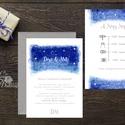 Esküvői meghívó, Esküvő, egyedi Esküvői lap, égbolt, csillagok, fehér, csillagos, égboltos, romantikus, kék, elegáns, ég, Esküvő, Naptár, képeslap, album, Meghívó, ültetőkártya, köszönőajándék, Esküvői dekoráció, Minőségi Esküvői Meghívó  * MEGHÍVÓ CSOMAG: - Meghívó lap, DUPLA oldalas nyomtatással: kb.: 14cm x 1..., Meska