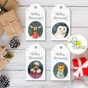 Állatos Karácsonyi Ajándékkísérő, erdei állat, Ünnepi kiskártya, ajándék, minimál design, szarvas, róka, maci, bagoly, Karácsonyi, adventi apróságok, Naptár, képeslap, album, Ajándékkísérő, képeslap, Ajándékkísérő, Vinateg stílusú kraft-natúr Ajándékkísérő kártya csomagra  1 CSOMAGBAN: 4db kártya van  * Mérete: 9...., Meska