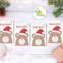 Mikulásos Ajándékkísérő, állatos, erdei állat, Ünnepi kiskártya, ajándék, minimál design, maci, medve, mikulás, miku, Dekoráció, Karácsonyi, adventi apróságok, Naptár, képeslap, album, Ünnepi dekoráció, Ajándékkísérő, képeslap, Ajándékkísérő, Ajándékkísérő kártyák csomagra  1 CSOMAGBAN: 4db kártya van  * Mérete: kb. 9.5x5.5cm * szalaggal köt..., Meska