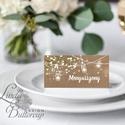 Esküvői ültető kártya, ültető, névkártya, név tábla, Esküvői dekor, dekoráció, rusztikus, téli, vintage, karácsony, tél, Esküvő, Otthon & lakás, Meghívó, ültetőkártya, köszönőajándék, Esküvői dekoráció, Naptár, képeslap, album, Igényes, sátras, két oladalas asztali ültetőkártya  MÉRETE összehajtva: kb: 4.5x9.2cm  * SZERKESZTÉS..., Meska