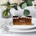 Esküvői ültető kártya, ültető, névkártya, név tábla, Esküvői dekor, dekoráció, rusztikus, téli, vintage, karácsony, tél, Esküvő, Naptár, képeslap, album, Meghívó, ültetőkártya, köszönőajándék, Esküvői dekoráció, Igényes, sátras, két oladalas asztali ültetőkártya  MÉRETE összehajtva: kb: 4.5x9.2cm  * SZERKESZTÉS..., Meska