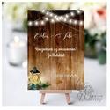 Esküvői Felirat A4, Menü, Itallap, Esküvő Dekor, Esküvői felirat, téli, rusztikus, szarvas, őz, lámpás, fenyő, toboz, Esküvő, Dekoráció, Esküvői dekoráció, Kép, A4 Esküvői PAPÍR KÉP /  Akasztós vagy Keretbe  MÉRET: A4: (210x297mm)  KIVITELEZÉS:  Lekerekített sa..., Meska