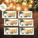 Karácsonyi Ajándékkísérő, vintage, Ünnepi kiskártya, ajándék, minimál design, kalligrafikus, rózsaszín, kesztyű, zokni, Dekoráció, Karácsonyi, adventi apróságok, Naptár, képeslap, album, Ünnepi dekoráció, Ajándékkísérő, képeslap, Ajándékkísérő, Vinatge stílusú natúr Ajándékkísérő kártya csomagra  1 CSOMAGBAN: 6db kártya van  * Mérete: 4.5x9cm ..., Meska