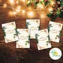 Karácsonyi Ajándékkísérő, vintage, Ünnepi kiskártya, ajándék, minimál design, kalligrafikus, rózsaszín, kesztyű, zokni, Karácsonyi, adventi apróságok, Naptár, képeslap, album, Ajándékkísérő, képeslap, Ajándékkísérő, Vinatge stílusú natúr Ajándékkísérő kártya csomagra  1 CSOMAGBAN: 5db kártya van  * Mérete: 5.5x7.5c..., Meska