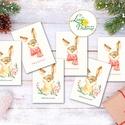 Állatos Karácsonyi Ajándékkísérő, nyuszis, nyuszi, nyúl, erdei állat, Ünnepi kiskártya, ajándék, minimál design, Dekoráció, Karácsonyi, adventi apróságok, Naptár, képeslap, album, Ünnepi dekoráció, Ajándékkísérő, képeslap, Ajándékkísérő, Ajándékkísérő kártya csomagra  1 CSOMAGBAN: 6db kártya van  * Mérete: 9.5x5.5cm * szalaggal kötve  2..., Meska