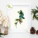Vintage kép, Print, Vintage karácsonyi kép, dekoráció, dekor, falikép, Adventi, fenyő, toboz, fenyőfa, botanikus, növény, Dekoráció, Karácsonyi, adventi apróságok, Ünnepi dekoráció, Karácsonyi dekoráció, 13x18cm Minőségi Print Lap, Nyomtatás  * KERET NÉLKÜL! *  * MÉRET: 13x18  * ANYAG:  250g-os kiváló m..., Meska