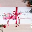 Karácsonyi ajándék, Pénzátadó boríték, utalvány átadó, céges ajándék, pénz, képeslap, egyedi, személyre szóló, autó, Dekoráció, Karácsonyi, adventi apróságok, Naptár, képeslap, album, Ünnepi dekoráció, Ajándékkísérő, képeslap, Ajándékkísérő, Igényes egyedi, személyre szóló Pénz-Átadó zsebes boríték szalaggal átkötve.  A Szöveg változtatható..., Meska