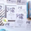 Szürke Meghívó, ezüst Esküvői meghívó, Elegáns, márvány, silver, leveles, levél, faág, Esküvő, Naptár, képeslap, album, Meghívó, ültetőkártya, köszönőajándék, Képeslap, levélpapír, Minőségi Esküvői Meghívó  * MEGHÍVÓ CSOMAG: - Meghívó lap, DUPLA oldalas nyomtatással: kb.: 14cm x 1..., Meska