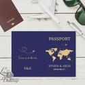 Útlevél meghívó, Beszállókártya Meghívó, Repülőjegy, jegy, utazás, travel, egyedi, fotós, fényképes meghívó, kinyithatós, Esküvő, Meghívó, ültetőkártya, köszönőajándék, Nászajándék, Esküvői dekoráció, Kinyithatós Útlevél meghívó  ** MEGHÍVÓ BORÍTÉKKAL ** - Kinyithatós meghívó mérete: kb.: A6 - Boríté..., Meska