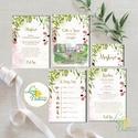 Greenery Esküvői meghívó szett, sorg villa, saját rajz, egyedi meghívó, festmény, natúr, zöld levelek, természetközeli,, Esküvő, Naptár, képeslap, album, Meghívó, ültetőkártya, köszönőajándék, Esküvői dekoráció, Minőségi Greenery Esküvői Meghívó szett  * MEGHÍVÓ CSOMAG BORÍTÉKKAL: A csomag tartalma:  *2db lap k..., Meska