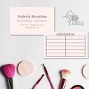 Névjegykártya, Egyedi Tervezés, minimál stílusú, címke, Névjegy, design, szerkesztés, szépségszalon, ajándékkísérő, logó, Naptár, képeslap, album, Képeslap, levélpapír, Jegyzetfüzet, napló, Ajándékkísérő, Minimál stílusú Névjegykártya csajoknak!  Fodrászoknak, Kozmetikusoknak bárkinek aki elegáns stílusb..., Meska