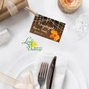 Köszönet kártya, ajándékkísérő,köszönet ajándék,  pajta esküvő, fa, őszi, ősz, őszi levél, fényfűzér, fa háttér, Esküvő, Naptár, képeslap, album, Meghívó, ültetőkártya, köszönőajándék, Képeslap, levélpapír, Igényes köszönetkártya, ajándékkísérő lyukasztva szalaggal kötve  * MÉRETE: kb: 5.4 x 8 cm Más méret..., Meska