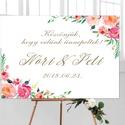 Esküvői Poszter A3, Esküvői kép, Esküvő Dekor, Esküvői felirat, virágos, tavaszi, szines, Esküvő, Dekoráció, Esküvői dekoráció, Kép, A/3-as Esküvői Poszter, bármilyen egyszerű felirattal, keret nélkül.  Tökéletes kellék & Dekor Elegá..., Meska