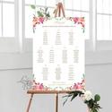 Ültetési rend, seat chart, seating plan, Ültetők, virágos, tavaszi, virág, szines, Esküvő, Naptár, képeslap, album, Meghívó, ültetőkártya, köszönőajándék, Esküvői dekoráció, A2 Ültetési rend - PAPÍR POSZTER  MÉRET: A2: (42x59.4cm) Ez a maximum méret amit el tudunk készíteni..., Meska