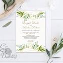 Greenery Meghívó, Esküvői meghívó, Természet közeli, natúr, vízfesték, Esküvői kártya, virágos, rét, vadvirág, zöld, Esküvő, Otthon & lakás, Meghívó, ültetőkártya, köszönőajándék, Naptár, képeslap, album, Képeslap, levélpapír, Minőségi  Esküvői  Meghívó  * MEGHÍVÓ CSOMAG BORÍTÉKKAL: - Meghívó egy lap, egy oldalas: kb.: 14cm x..., Meska