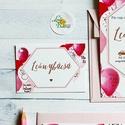 Leánybúcsú ajándékkísérő kártya, Lánybúcsú party, lány búcsú, lufi, meghívó, csajos, rózsaszín, Esküvő, Meghívó, ültetőkártya, köszönőajándék, Nászajándék, Leánybúcsú Partyra   Ajándékkísérő * Mérete: kb.: 5x8cm * Lyukasztva * 250gr-os művészpapíron * 1 ol..., Meska