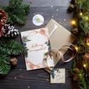 Vintage Karácsonyi Képeslap, geometrikus, geometriai forma, Adventi Képeslap, Karácsonyi lap, Karácsonyi üdvözlőlap, Otthon & lakás, Naptár, képeslap, album, Dekoráció, Ünnepi dekoráció, Karácsonyi, adventi apróságok, Ajándékkísérő, A/6-os méretű Igényes Egyedi Karácsonyi képeslap.  Karácsonyi képeslap, borítékkal + ajándékkísérőve..., Meska