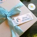 Karácsonyi Ajándékkísérő, őz, szarvas, kék, Adventi Kártya, Mikulás, Ünnepi, kiskártya, ajándékkártya, Egyedi Ajándékkísérő  * Kártya mérete: Kb: ...