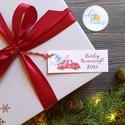 Egyedi Karácsonyi Ajándékkísérő, névreszóló, piros autó, fenyő, Adventi Kártya,Ünnepi, kiskártya, ajándékkártya, Otthon & lakás, Dekoráció, Ünnepi dekoráció, Karácsonyi, adventi apróságok, Ajándékkísérő, Naptár, képeslap, album, Ajándékkísérő, Egyedi névreszóló Ajándékkísérő  EGYEDI NÉVRESZÓLÓ :  Vásárláskor add meg a kívánt nevet/neveket rá,..., Meska