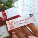 MATRICA, 14db, egyedi, névreszóló, nyuszi, nyúl, címke, Karácsonyi Ajándékkísérő, cédula, vignetta, levonó, sticker, Otthon & lakás, Dekoráció, Ünnepi dekoráció, Karácsonyi, adventi apróságok, Ajándékkísérő, Naptár, képeslap, album, Ajándékkísérő, 14db Egyedi Karácsonyi Téglalap Matrica  MATRICA KIVITELEZÉSE: * A4-es matrica lapon * Könnyen lehúz..., Meska