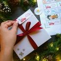 MATRICA, 14db, piros autó, fenyő, címke, Karácsonyi Ajándékkísérő, cédula, vignetta, levonó, sticker, Otthon & lakás, Dekoráció, Ünnepi dekoráció, Karácsonyi, adventi apróságok, Ajándékkísérő, Naptár, képeslap, album, Ajándékkísérő, 14db Karácsonyi Téglalap Matrica  MATRICA KIVITELEZÉSE: * A4-es matrica lapon * Könnyen lehúzható * ..., Meska