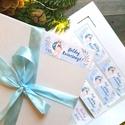 MATRICA, 14db,őz, szarvas, kék, állatos, címke, Karácsonyi Ajándékkísérő, cédula, vignetta, levonó, sticker, Otthon & lakás, Dekoráció, Ünnepi dekoráció, Karácsonyi, adventi apróságok, Ajándékkísérő, Naptár, képeslap, album, Ajándékkísérő, 14db Karácsonyi Téglalap Matrica  MATRICA KIVITELEZÉSE: * A4-es matrica lapon * Könnyen lehúzható * ..., Meska