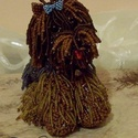 Yorki kutya gyöngyből, Állatfelszerelések, Dekoráció, Képzőművészet, Kutyafelszerelés, Gyöngyfűzés, A Yorki igazi rajongóinak gyöngyszeme.. :) Ez a kisfiú egyedi tervezésű és kivitelezésű, nagyon sok..., Meska