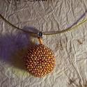 3D gyöngy korong, vagy tallér medál, Ékszer, óra, Medál, Gyöngyfűzés, A termékek 3D s ékszerek, medálként használhatóak. Színösszeállítás tetszés szerint választható, Meska