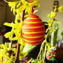 Különleges, virágos húsvéti hímes tojás, Húsvéti díszek, Mindenmás, Otthon, lakberendezés, Dekoráció, A képen látható húsvéti tojásokat különleges technikával készített süthető gyurmából, keményre égetv..., Meska