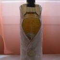 Borosüveg-mellény (kabát) beige színben, Dekoráció, Otthon, lakberendezés, Dísz, Ünnepi dekoráció, Ezt a mellényt hagyományos 750 ml-es borosüvegre terveztem.  A gyöknek köszönhetően nem csús..., Meska