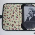 Ebook olvasó (Prestigio, Kindle 3; Kindle Fire) ) tok légyölőgalócás anyagból  anyagból, Mindenmás, Táska, Pénztárca, tok, tárca, Varrás, Anyaga - amerikai patchwork vászon, bélése - jó minőségű textil borítású autóülésekhez gyártott 5mm..., Meska
