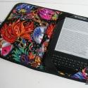 Ebook olvasó (Prestigio, Kindle 3; Kindle Fire)) tok, FARSANG, Mindenmás, Táska, Pénztárca, tok, tárca, Varrás, Anyaga - amerikai patchwork vászon, bélése - jó minőségű textil borítású autóülésekhez gyártott 5mm..., Meska