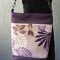 Női táska, LILA LEVELEK, Táska, Válltáska, oldaltáska, Készleten lévő, azonnal rendelkezésre álló termék (a fotón az adásvétel tárgyát képező..., Meska