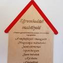 Káromkodási szabályok tábla, Dekoráció, Otthon, lakberendezés, Kép, Falikép, Festett tárgyak, Famegmunkálás, Egyedi házikó alakú Káromkodási szabályok tábla! Ideális kisgyermekes családok számára. Olykor mind..., Meska