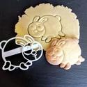Nyuszi süteménykiszúró  - mintázó, Konyhafelszerelés, Mindenmás, Baba-mama-gyerek, Mézeskalácssütés, Mindenmás, A kiszúró segítségével mintázott süteményeket készíthetünk.  Ahogy a képen is látszik, a kész sütem..., Meska