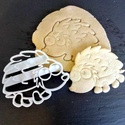 Süni süteménykiszúró  - mintázó, Konyhafelszerelés, Mindenmás, Baba-mama-gyerek, Mézeskalácssütés, Mindenmás, A kiszúró segítségével mintázott süteményeket készíthetünk.  Ahogy a képen is látszik, a kész sütem..., Meska