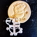 Akció - Peppa Malac - Zsoli süteménykiszúró  - mintázó, Konyhafelszerelés, Mindenmás, Baba-mama-gyerek, Mézeskalácssütés, Mindenmás, A kiszúró segítségével mintázott süteményeket készíthetünk.  Ahogy a képen is látszik, a kész sütem..., Meska