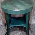Zöld art deco asztal, Bútor, Asztal, Szereted a zöldet? Én imádom. Az art deco bútorokat különösen szeretem, s azokon belül is, e..., Meska