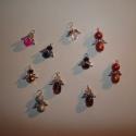 Karácsonyi angyalkák üveggyöngyből - LEFOGLALVA nefelejtsnek!, A csomag tartalmaz 10db angyalkát, melyeket több...