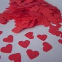 Szív alakú papír konfetti (500 db), Esküvőre, Valentin napra, évfordulóra vagy csa...