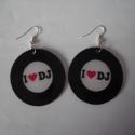 I love DJ bakelit fülibevalók (2 pár) - LEFOGLALVA martonandrea részére!, A fülbevalók kérésre készültek. Zsugorkábó...