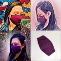 Szájmaszk - mosható pamut női lila gumis szájmaszk, RSP designs Handmade - Mosható Szájmaszk  ♡ LE...