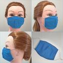 Szájmaszk - mosható pamut gyermek kék-fekete gumis szájmaszk, RSP designs Handmade - Mosható Szájmaszk  ♡ LE...