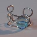 Fülgyűrű kék gyönggyel - ArtParisien-nek lefoglalva!, A fülgyűrű kérésre készült. Ezüstözött d...