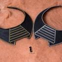 Cipzár gallér (arany), Ékszer, óra, Nyaklánc, ...ha valami igazán különlegeset keresel. A nyaklánc elkészítéséhez fekete filc és cipzár ..., Meska