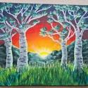 Hajnal , Művészet, Festmény, Akril, Festészet, Akrilfestmény, 30x25 cm, feszített vászon. Keret nélkül, azonnal falra akasztható. Ragyogó napfelke..., Meska