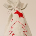 Karácsonyi öko zsák, ajándék zacskó, italtartó, mikulás zsák (littlecrochetforU) - Meska.hu